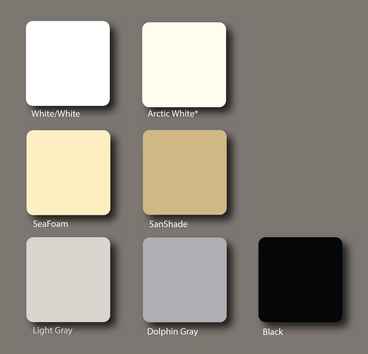 Colors: King Starboard XL Marine Grade Polymer