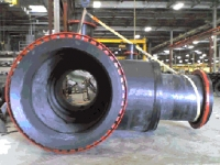 King PipeGrade is used for flanges on these large T-Connectors
