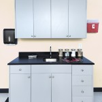 Doctor's Office Case Goods Made with King StarBoard® ST Upgraded to King MicroShield® Dolphin Gray