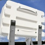 Boat Chair Back Made with King StarBoard® XL White/White