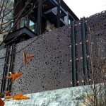 Outdoor Wall Panels by Michael Enn Sirvet Made with King StarBoard® ST Mocha Brown