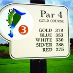 Golf Course Sign Made with King ColorCore® Tan/Green/Tan