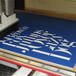 CNC Router Making a Sign with King ColorCore® Blue/White/Blue