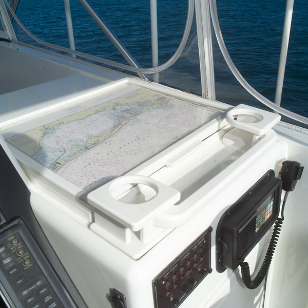 Map and Cup Holder Made with King StarBoard® XL White/White