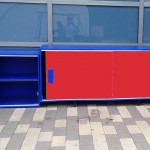 Amusement Park Case Goods Made with King ColorBoard® KPG Red and KPG Blue