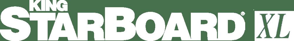 King StarBoard® XL Logo in White