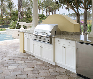 King DuraStyle™ White/White For Outdoor Kitchens