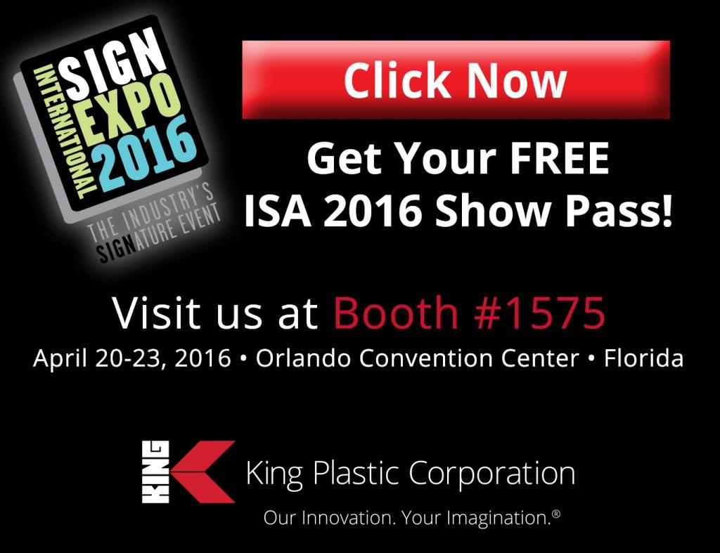 ISA 2016 Free Show Pass