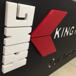 King Plastic Corporation Sign