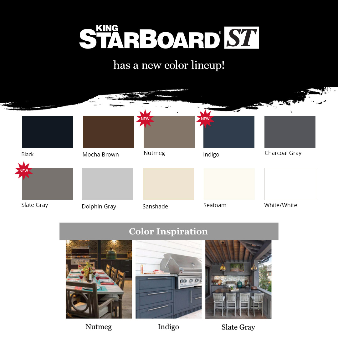 King StarBoard® ST New Colors