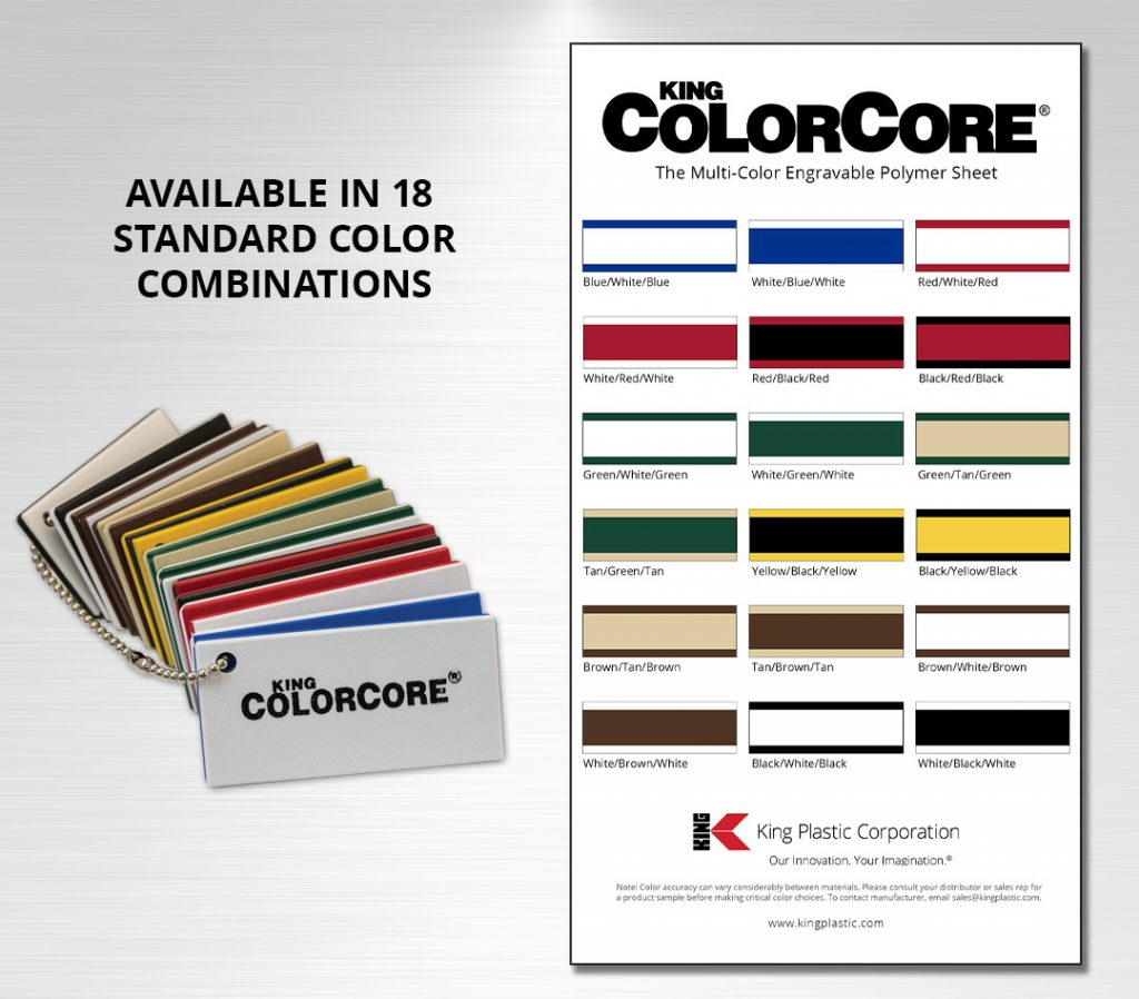 King ColorCore® Chain Set or Color Card Sample