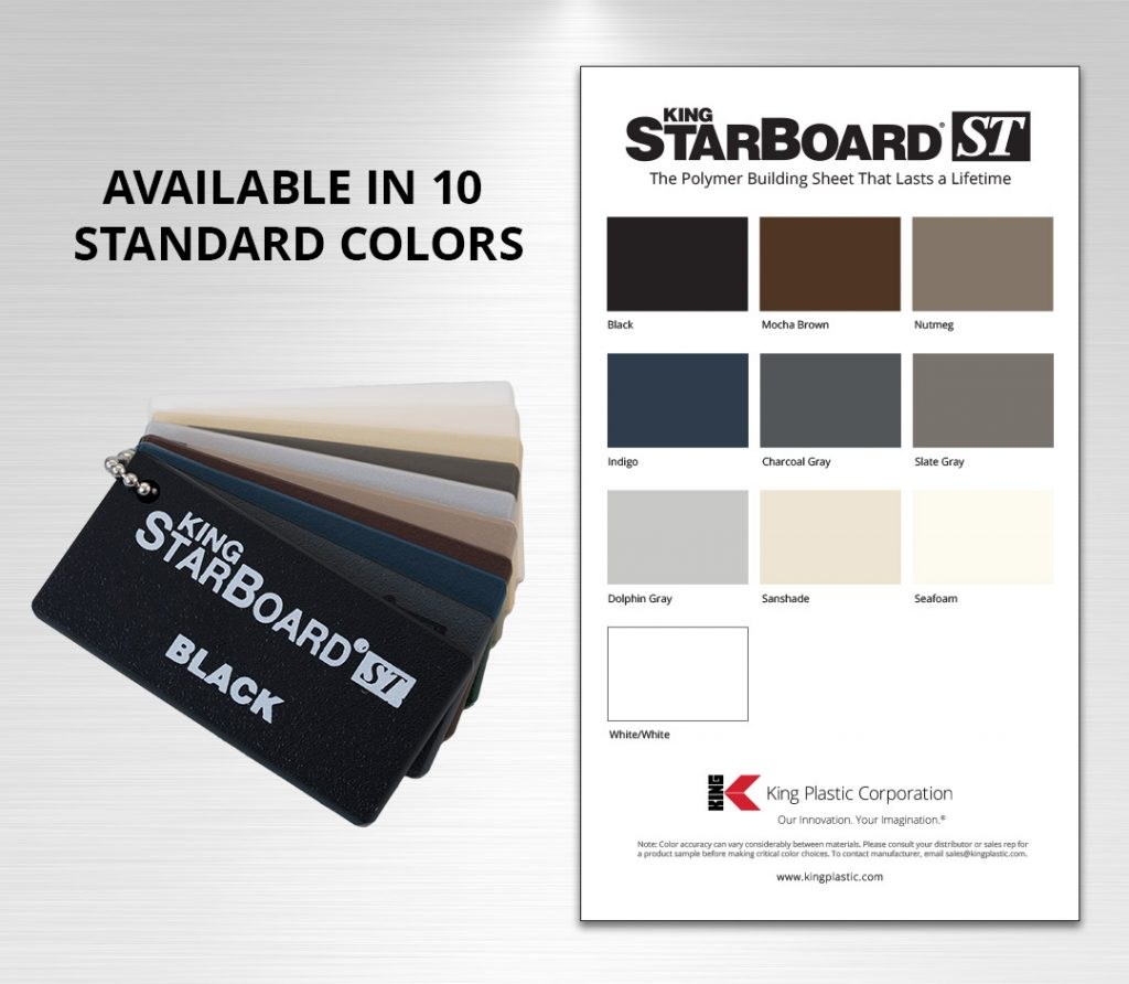 King StarBoard® ST is Available in 10 Standard Colors