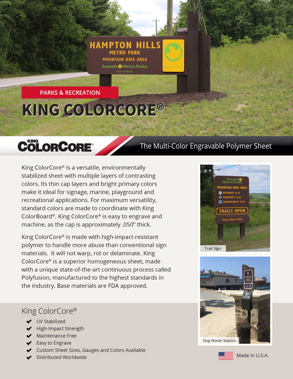 King ColorCore® Parks and Recreation Flyer
