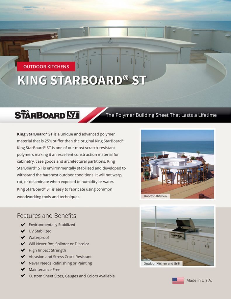 King StarBoard ST Outdoor Kitchens Flyer
