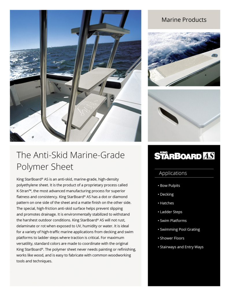 King StarBoard® AS Product Literature