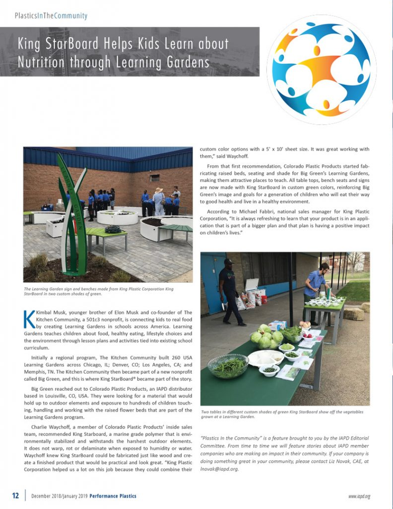 King StarBoard® Helps Kids Learn About Nutrition Through Learning Gardens