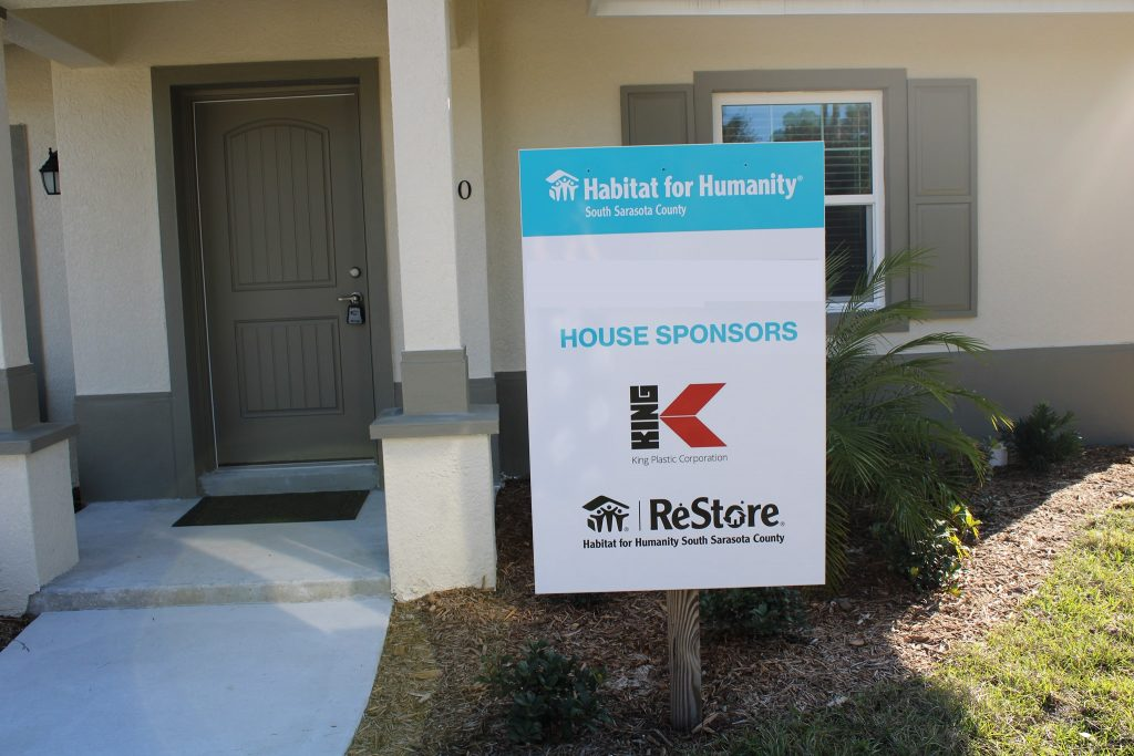 newly built Habitat for Humanity Home Sponsored by King Plastic